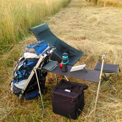 Mobile living room whilst fieldrecording